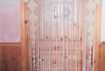 Macrame doors + wrought iron