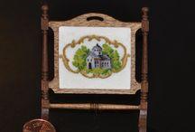 Le mie miniature: ricami / Quadri, cuscini, tappeti e altro per arredare dollhouse