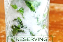 Preserving, canning fresh herbs, produce