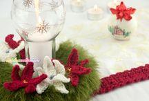 centro tavolo e stelle di Natale
