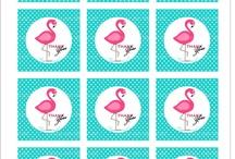 Pink flamingo mint