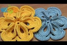 crochet patterns- flowers, leaves,clover