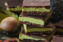 avocado. mint choc bars
