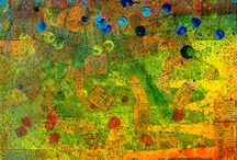 Splatter Maps / Mixed Media Mapart using abstract pieces of ripped maps to create unique, fun, and creative original art.  If you look close you may see your city, your town, or maybe even your street!