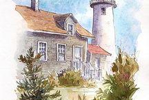 Watercolor nautical