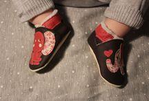 Nos chaussons cuir souple fourrés