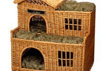pelíšky pro kočky / pletení z papíru