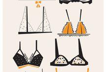 Ilustrações de moda / Lingerie
