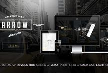 Website Designs / Website Templates I sell on Themeforest