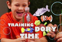 Training Dory: DIY Finding Dory Craft for Kids / Learn to Train Dory and all her fish friends with this Finding Dory inspired DIY Craft! Do your children love Dory, Nemo, and even Squirt? Well now they can make them with this fun kid activity perfect for the summer.   Check out a Step by Step on how to Train Dory: http://www.bestoforlando.com/articles/finding-dory-craft-diy/