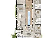 House plans pool in middle