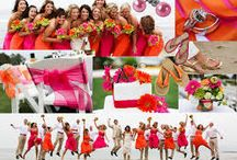 Orange and Cerise pink wedding / All the orange and Cerise pink needed for a beautiful and colorful wedding