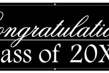 Graduation banners / Let them know how proud you are of their accomplishment with one of these banners!