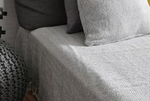 Collection Klara - beadspreads, throws and cushion / Woven cotton throw, cushion, bed covers