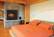 Modern Bedroom / Modern Bedroom designs with and without fireplaces