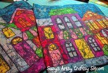 Batik with Crayons