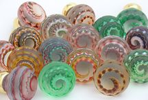 Artisan Glass Knobs / Handmade solid glass artisan door knobs each one is completely unique. Merlin Glass the ultimate in luxury glass knobs