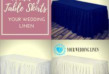Buy Wedding Table Skirts | Table Skirting from YourWeddingLinen
