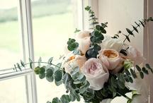 Australian weddings in France. / Eucalyptus inspired Australian bouquets.