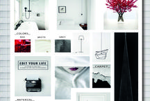 inspiration board / inspiration board_colors_materias_style_design_furniture_