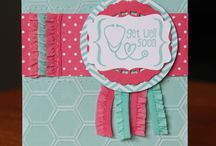 Stampin Up Product Ideas / Project ideas that are made using either only Stampin' Up! products, or partially and they use a SU! exclusive (e.g. punch, stamp set, punch and stamp bundle).  / by Ruth Sutton