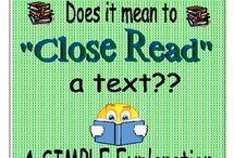 Close/Cloze Reading