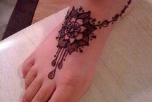 ٠•●☆•°Unique Design_Hand Painted_Henna Designs_Boho Jewelry Style_Foot Jewelry for The Beach •°☆●·•٠