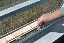 Canales de las puertas y ventanas corredizas de acero del patio