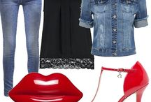 Outfit scarpe rosse