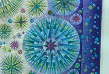 Quilt - Mariner Compass / Patchwork Quilt Marinaer Compass Kompass Block Quiltblock