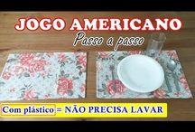 jogo americano com plástico