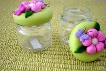 Frascos de vidrio decorados. / Imágenes de frascos de vidrio decorados para muchas ocasiones.