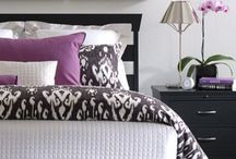 Purple / Black / White Bedroom Decor