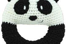 Sonajero crochet Panda