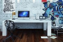 Diseño de Interiores / Dirección de arte y diseño de interiores para estudios de trabajo u oficinas.