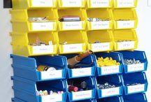 Craft Storage Organization / Creative Ways to Organize a Craft Room