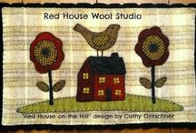 Wool Applique Designs by Cathy G.~Red House Wool Studio