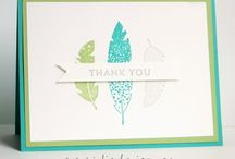 Stampin Up Four Feathers