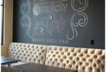 Crafty-chalkboard art / by Judy Cowling