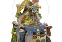 Nativity Snow Globes / Buy Musical Nativity Scene Water Snow Globes from http://www.bestpysanky.com / by BestPysanky Inc