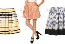 Skirts I Love / From minis to maxis and everything in between: pleats, flounces, ruffles, ruched. How to look your best in these favorite separates