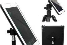 iPad Air 2 Tripod Mount Adapter Holder / Mounting an iPad Air 2 onto any standard tripod head, camera tripod, or music stand.