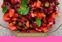 Salate Rezepte / Einfache und schnelle Rezepte für vegetarische Salate, die du selber machen kannst. Russische Salate mit Schritt-für-Schritt-Anleitungen zum Nachmachen.