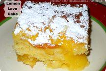Lemon lava cake