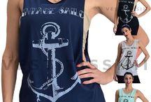 Canotta canottiera maglia donna maglietta ancora aperture laterali top gym Mc13