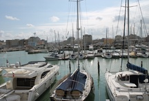 New harbor in Cattolica (Italy) / Photos of the new harbor in Cattolica (Italy), in front of Residence Fiorella, taken in winter time.