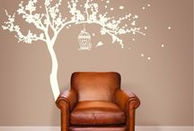 Floral Wall Decals / Floral design of wall decals.