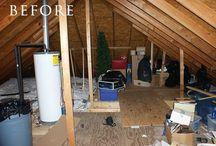 Attic Renovation Ideas / by Lora Luscombe