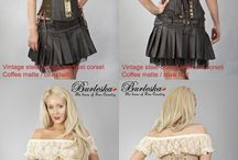 Steampunk Clothing / Burleska's steampunk corsets, skirts and more
