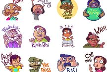 Chumbak emoticons / Expressions.